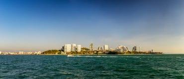 Vista dalla località di soggiorno Pattaya, Tailandia del mare Fotografia Stock Libera da Diritti
