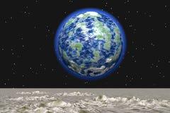 Vista dalla luna Fotografie Stock