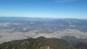 Vista dalla montagna fotografia stock