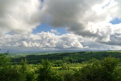 Vista dalla montagna Immagine Stock
