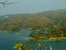 Vista dalla montagna Fotografie Stock