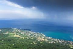 Vista dalla montagna Ay Pétri Immagine Stock
