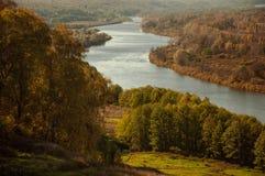 Vista dalla montagna calva Gorokhovets La regione di Vladimir Della fine del settembre 2015 Immagini Stock Libere da Diritti