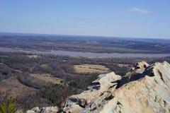 Vista dalla montagna del culmine - Arkansas Immagine Stock Libera da Diritti