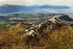 Vista dalla montagna del geisberg Fotografie Stock