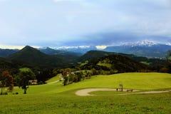 Vista dalla montagna del geisberg Fotografie Stock Libere da Diritti