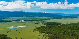 Vista dalla montagna del segnale, grande parco nazionale di Teton Fotografia Stock