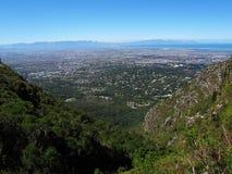 Vista dalla montagna della Tabella su Cape Town, Sudafrica Fotografie Stock Libere da Diritti