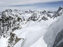 Vista dalla montagna di Aiguille du Midi Fotografia Stock Libera da Diritti