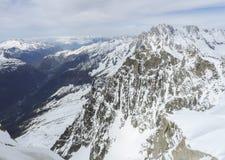 Vista dalla montagna di Aiguille du Midi Immagine Stock