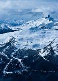Vista dalla montagna di Blackcomb fotografie stock libere da diritti