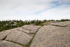 Vista dalla montagna di Cadillac nel parco nazionale di acadia fotografia stock