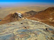 Vista dalla montagna di Chacaltaya vicino al La Paz Fotografia Stock