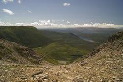 Vista dalla montagna di Gros Morne Immagini Stock