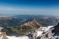 Vista dalla montagna di Jungfrau, Svizzera Immagine Stock Libera da Diritti