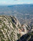 Vista dalla montagna di Montserrat Fotografie Stock Libere da Diritti