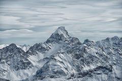 Vista dalla montagna di Nebelhorn, alpi bavaresi, Oberstdorf, GE Fotografia Stock Libera da Diritti