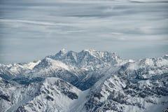 Vista dalla montagna di Nebelhorn, alpi bavaresi, Oberstdorf, GER Fotografia Stock Libera da Diritti