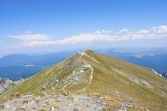 Vista dalla montagna di Omu Fotografie Stock