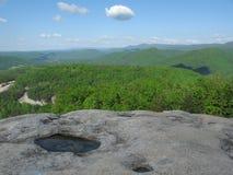 Vista dalla montagna di pietra, NC Fotografia Stock