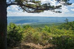 Vista dalla montagna di Potts, la Virginia, U.S.A. immagini stock