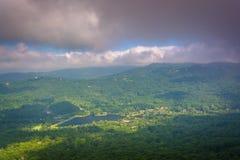 Vista dalla montagna di prima generazione, vicino a Linville, Nord Carolina Fotografie Stock