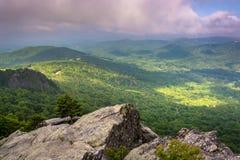 Vista dalla montagna di prima generazione, vicino a Linville, Nord Carolina Immagini Stock