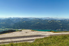Vista dalla montagna di Schafberg, Austria Fotografia Stock Libera da Diritti