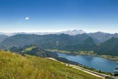 Vista dalla montagna di Schafberg, Austria Immagini Stock