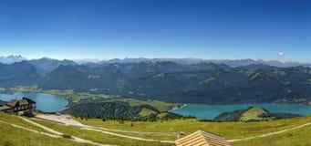 Vista dalla montagna di Schafberg, Austria Immagine Stock