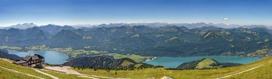 Vista dalla montagna di Schafberg, Austria Fotografia Stock