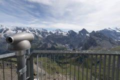 Vista dalla montagna di Schilthorn Immagini Stock Libere da Diritti