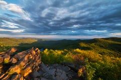Vista dalla montagna di Vihorlat fotografie stock libere da diritti