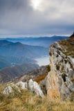 Vista dalla montagna Kozjak Immagini Stock