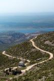 Vista dalla parte di Tulove Grede delle alpi di Dinaric, Croazia Immagine Stock