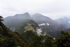 Vista dalla parte superiore della montagna Fotografia Stock