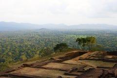 Vista dalla parte superiore della roccia di Sigiriya, Sri Lanka Fotografia Stock Libera da Diritti