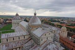 Vista dalla parte superiore della torretta di Pisa Fotografie Stock Libere da Diritti