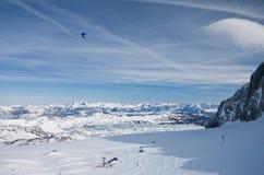 Vista dalla piattaforma di osservazione. Dachstein. L'Austria Fotografie Stock Libere da Diritti