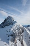 Vista dalla piattaforma di osservazione sul ghiacciaio di Dachstein Immagine Stock Libera da Diritti
