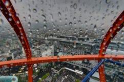 Vista dalla pioggia della torre di Kyoto Immagini Stock Libere da Diritti