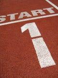 Vista dalla pista di sport Fotografia Stock Libera da Diritti