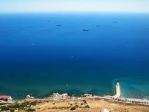 Vista dalla roccia di Gibilterra Fotografia Stock