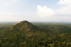 Vista dalla roccia di Sigiriya, Sri Lanka Fotografia Stock