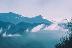 Vista dalla sommità del lema del monte Fotografia Stock
