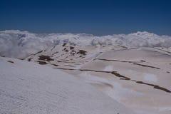 Vista dalla sommità Kizlarsivrisi, Taurus Mountains Immagini Stock Libere da Diritti