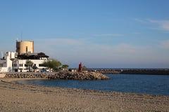 Vista dalla spiaggia fotografia stock libera da diritti