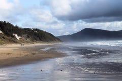 Vista dalla spiaggia Fotografia Stock