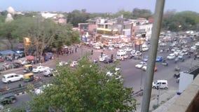 Vista dalla stazione della metropolitana del chattarpur Fotografie Stock