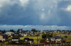 Vista dalla stazione di Kurobe nel Giappone fotografia stock libera da diritti